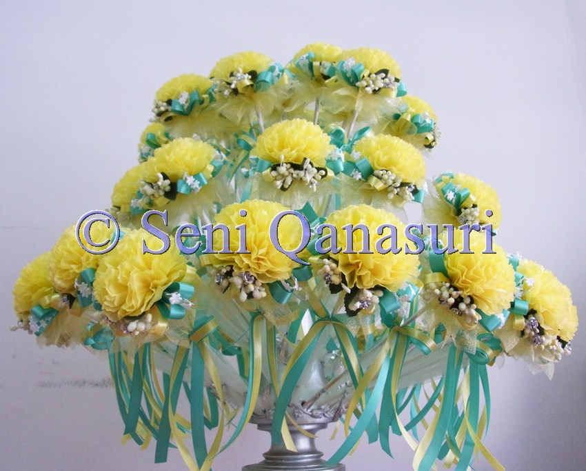 berries bunga pahar bunga telur bunga tisu custom made flowers lemon
